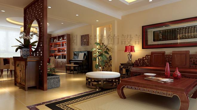 【设计说明】五口之家,营造一个具有传统中式元素,中式韵味家居环境