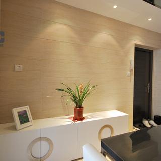 现代简约温馨三房两厅装修设计-晶金花羽