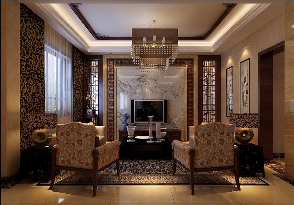 257㎡新中式别墅墙纸装饰绝了!图片