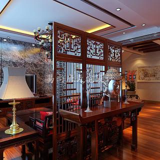 别墅设计作品-中海尚湖世家新中式风格别墅设计案例-易尚唐大宅设计杨智晟作品。