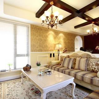 S6系19万装修张江汤臣豪园130平三室两厅美式婚房