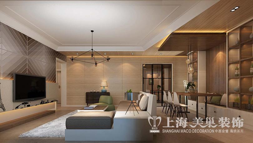 紫荆尚都装修三室两厅140平现代简约效果图-搜狐家居