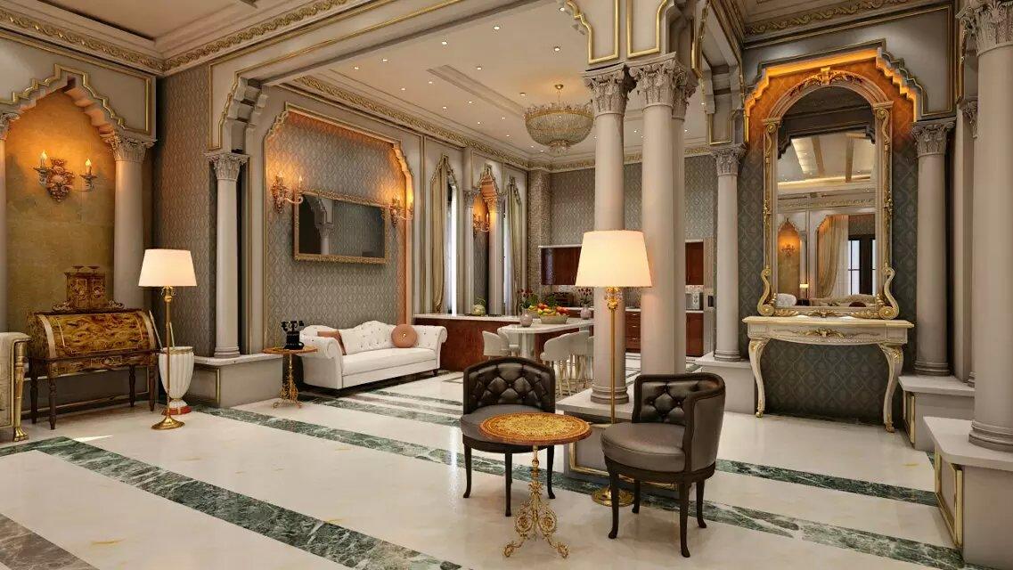 西山一号院600平米别墅装修效果图|龙发装饰别墅设计