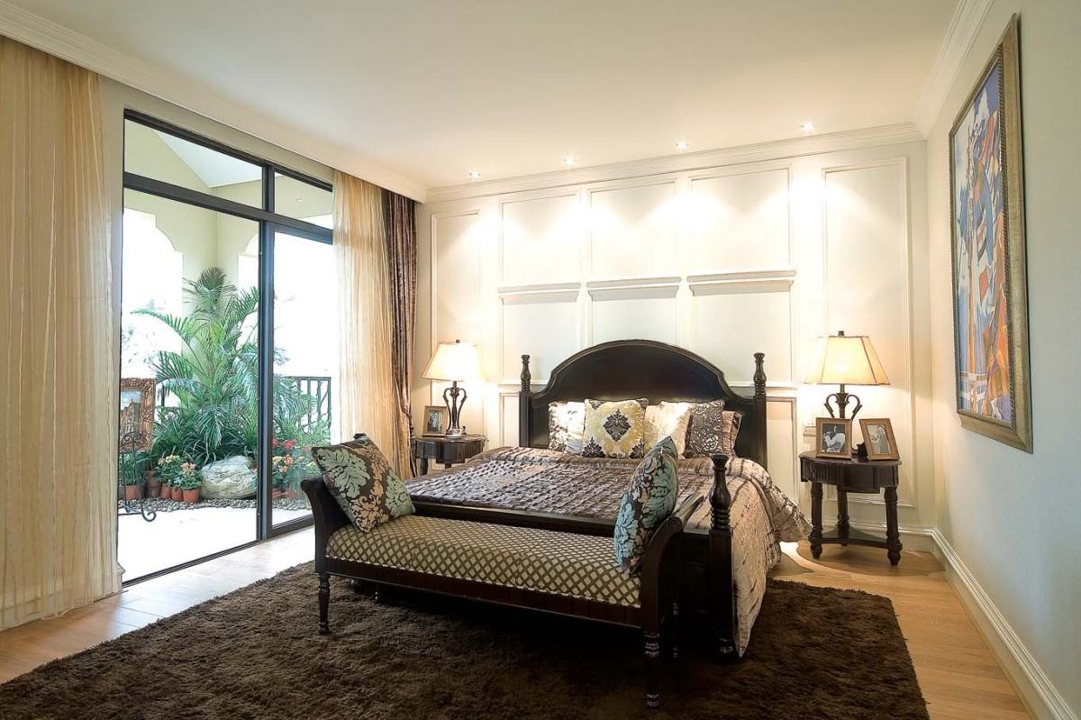 北京翡翠城289平米别墅装修样板房|美式风格别墅装修效果图|龙发装饰
