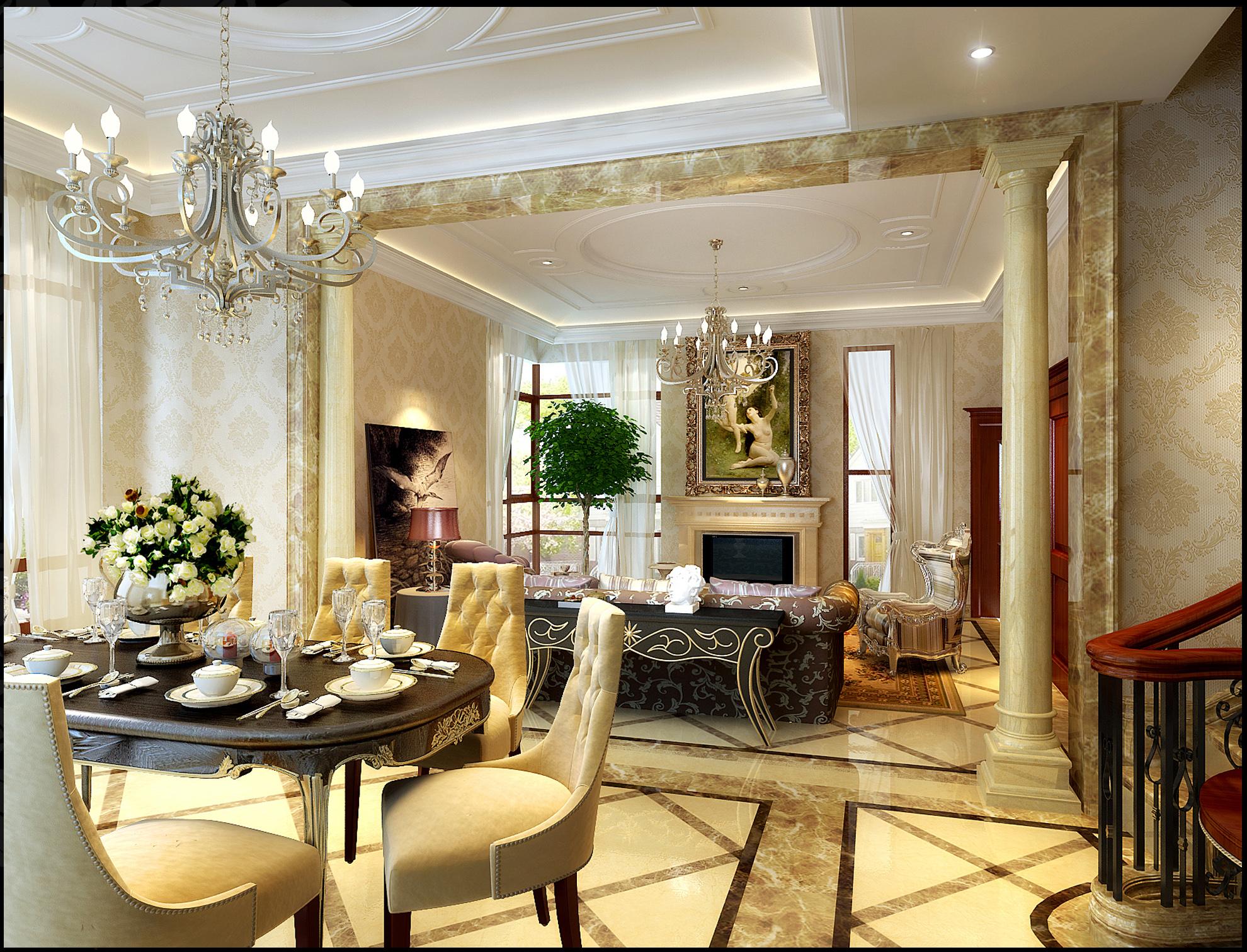 奢华240平米四居室欧式式风格装修设计案例-搜狐家居