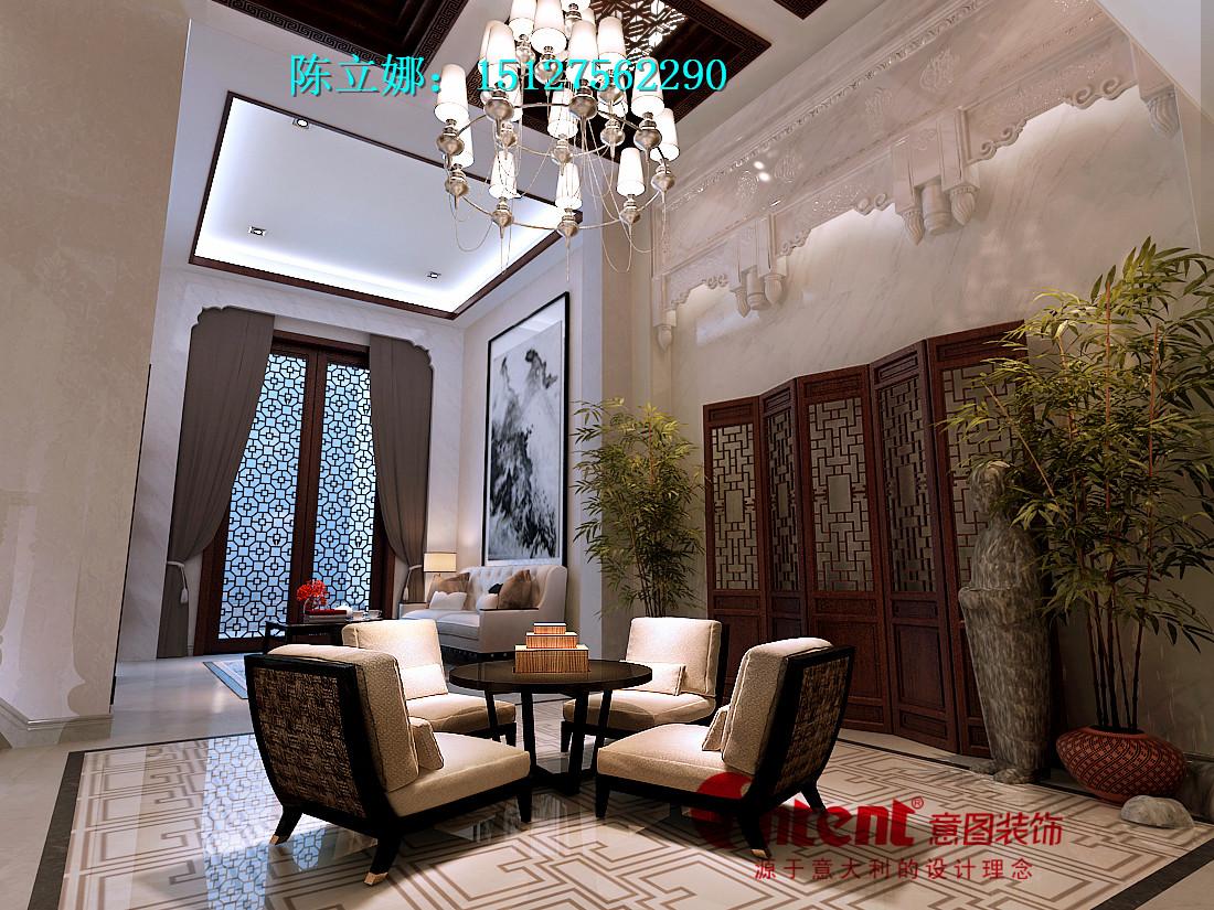 唐城壹零壹600平米独栋别墅新中式风格设计装修效果图