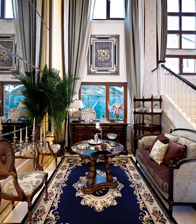500平米美式风格别墅装修设计样板间|南昌别墅装修