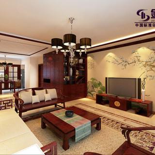 昌明伴山苑188平现代中式装修设计