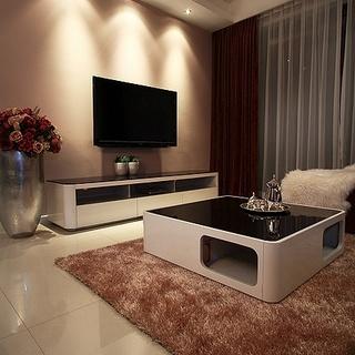 13万全包硬装打造92平二居室现代时尚温馨婚房