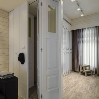 卧房起居室卫浴三位合一 53平北欧两居单身公寓
