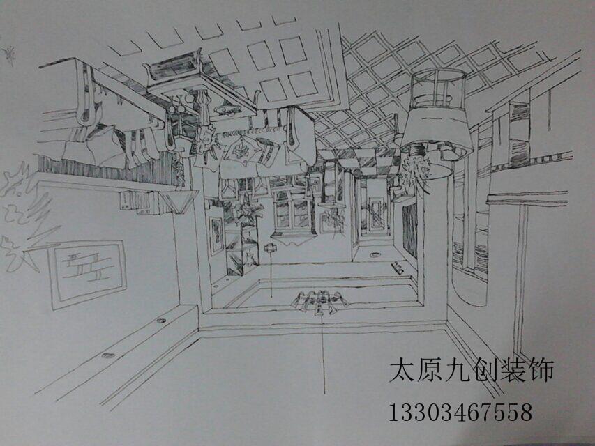 【九创装饰】室内装修手绘图
