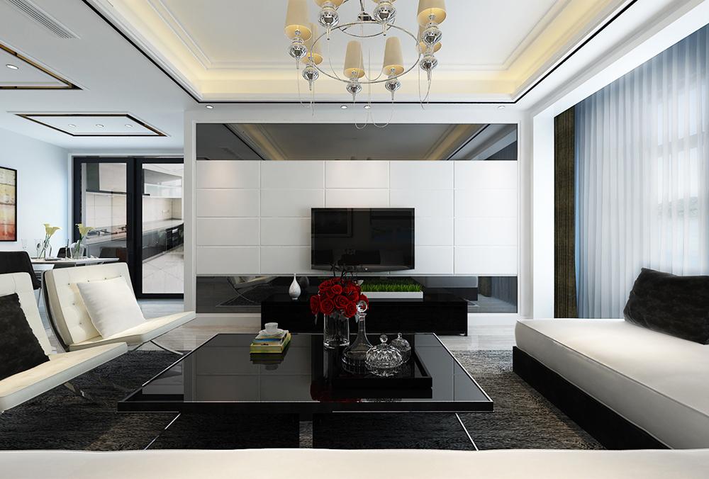 潍坊装修公司:万泰装饰黑白灰三居室现代简约设计案例