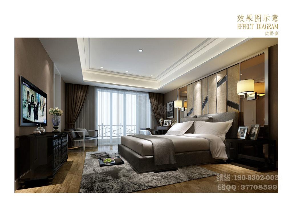 现代中式别墅装修设计案例丨重庆渝北联排别墅设计样板房